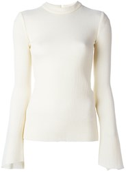 Ellery Bell Sleeve Top Nude And Neutrals