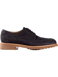 Tod's Ridged Sole Brogues Blue