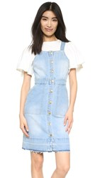 Minkpink Unstoppable Denim Dress Washed Blue