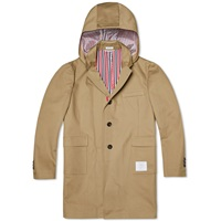 Thom Browne Mackintosh Hooded Trench Coat Khaki