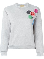 Peter Jensen Embroidered Circle Sweatshirt Grey