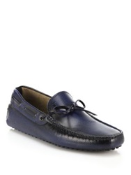 Tod's Gommini Tie Front Drivers Baltic Blue