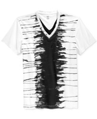 Inc International Concepts Men's Spine Graphic Print Double V Neck T Shirt Only At Macy's White Pure