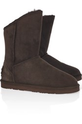 Australia Luxe Collective Cosy Short Shearling Boots Chocolate