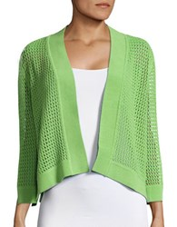 Nipon Boutique Open Knit Cardigan Keylime