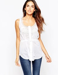 French Connection Harlan Cotton Top Summer White