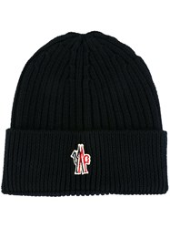 Moncler Grenoble Logo Patch Beanie Blue