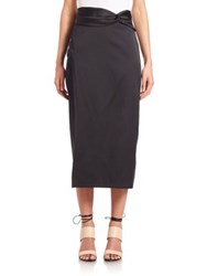 3.1 Phillip Lim Knotted Waist Skirt Black