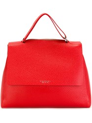 Orciani Flap Closure Tote Bag Red