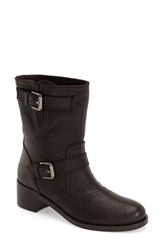 Women's Delman 'Max' Moto Boot Brown Leather