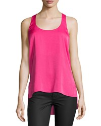 Bcbgmaxazria Edita Racerback High Low Tank Top Fuchsia