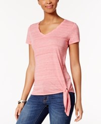 Calvin Klein Jeans Jean Side Tie T Shirt Coral