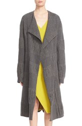 Narciso Rodriguez Women's Fringe Stretch Wool Duster