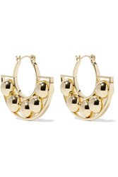 Noir Jewelry Albedo Gold Tone Hoop Earrings