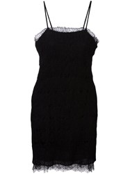 Etro Lace Overlay Cami Dress Black