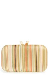 Big Buddha Stripe Clutch Yellow Yellow Multi