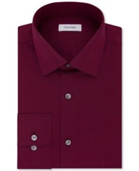Calvin Klein Steel Men's Classic Fit Non Iron Performance Solid Dress Shirt Mulberry