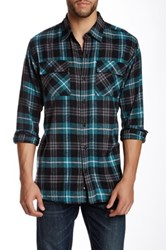 Burnside Plaid Flannel Shirt Blue