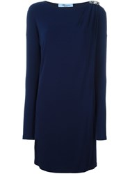 Blumarine Jewel Detail Dress Blue