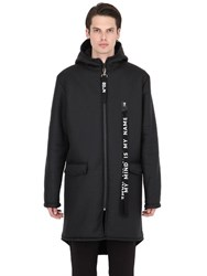 Numero 00 Faux Shearling Lined Nylon Coat