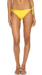 Shoshanna Ruffle Edge String Bottoms Sunflower Yellow