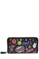 Anya Hindmarch Leather Large Zip Around Wallet Multicolor