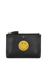 Anya Hindmarch Wink Smiley Embossed Leather Pouch