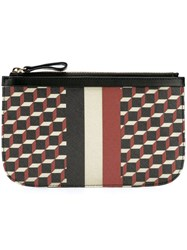 Pierre Hardy 'Cubes Stripe' Clutch Black