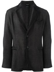 Avant Toi Houndstooth Single Breasted Blazer Black