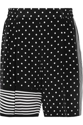 Stella Mccartney Zandra Printed Silk Crepe De Chine Shorts Black