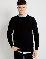 Lyle And Scott Cotton Merino Jumper Black