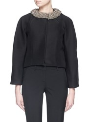 Balenciaga Metal Chain Link Collar Jacket Black