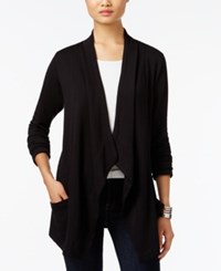 Styleandco. Style Co. Draped Open Front Cardigan Only At Macy's Deep Black