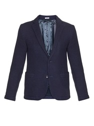Blue Blue Japan Unstructured Waffle Knit Cotton Blazer