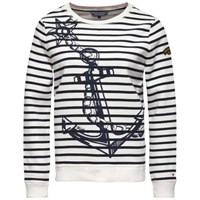 Tommy Hilfiger Olympia Anchor Print Sweater White