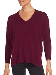 Inhabit Long Sleeve Cashmere Pullover Beetroot