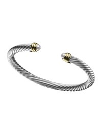 5Mm Pearl Cable Classics Bracelet Small David Yurman White