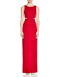 Nicole Miller Sleeveless Cutout Side Gown Red