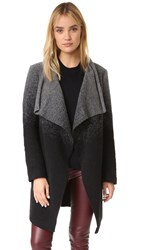 Bb Dakota Kinney Ombre Drape Front Coat Black