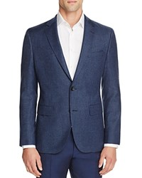 Hugo Boss Jayson Houndstooth Structured Regular Fit Sport Coat With Elbow Patches Blue Black