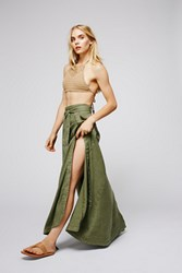 Free People Womens American Ride Maxi Skirt