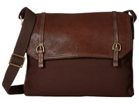 Scully Hidesign Bentley Distressed Leather And Canvas Brief Bag Brown Briefcase Bags
