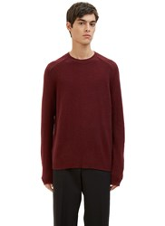 Marni Cashmere Crew Neck Sweater Burgundy