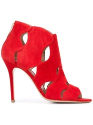 Aperlai Open Toe Sandals Red