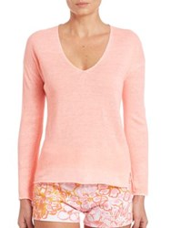 Lilly Pulitzer Taryn Linen Sweater Peachy Pink