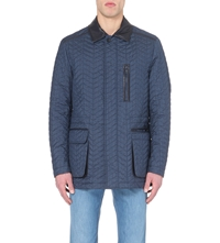 Brioni Quilted Silk Jacket Navy