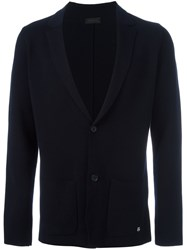 Z Zegna V Neck Cardigan Blue