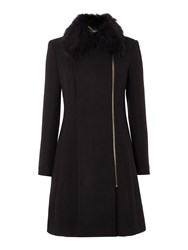 Therapy Elsa A Line Swing Coat Black