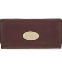 Mulberry Grained Leather Continental Wallet Oxblood