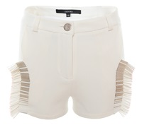 Judy Wu Beaded Shorts White White Nude Neutrals